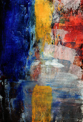 Contemporary Mixed Media - Primary- Art By Linda Woods by Linda Woods