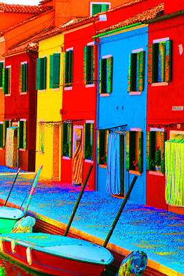 Photograph - Primary Colors Of Burano by Donna Corless