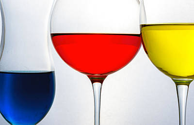 Photograph - Primary Colors In Glass by Lonnie Paulson