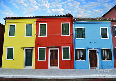 Primary Colors Too Burano Italy Art Print