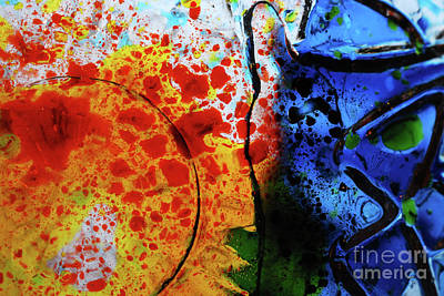 Primary Crystal Abstract Original by Nancy Mueller
