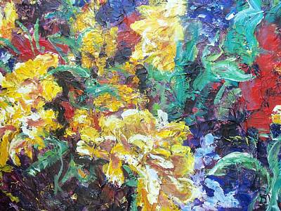 Painting - Primary Flowers by Sheila Holland