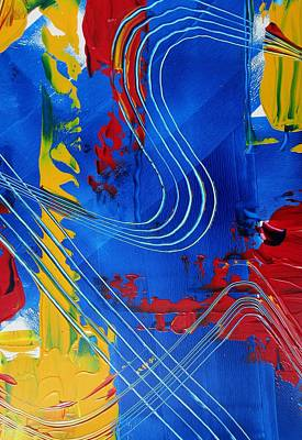 Lines Painting - Primary Rhapsody Two by Louise Adams