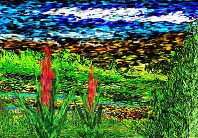 Mindscape Digital Art - Primative Landscape by David Lane