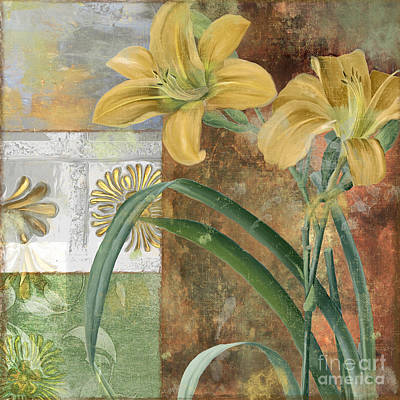 Day Lilies Painting - Primavera II by Mindy Sommers