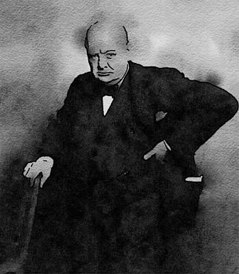 Celebrities Royalty-Free and Rights-Managed Images - Prime Minister, Sir Winston Churchill by John Springfield