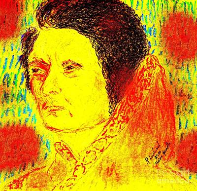 Painting - Primeminister Indira Gandhi by Richard W Linford