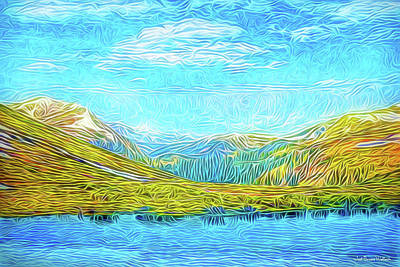 Digital Art - Primeval Mountains by Joel Bruce Wallach
