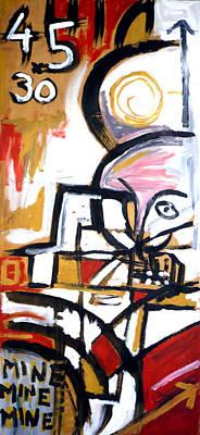 Theft Painting - Primitive Accumulation Of Capital by Stuart Bracewell