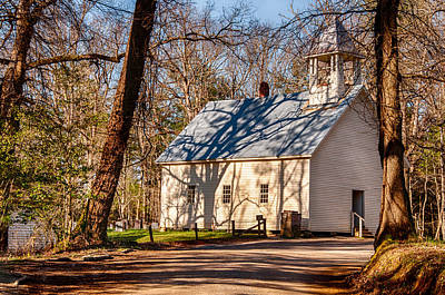 Photograph - Primitive Baptist Church Cades Cove by Gene Sherrill