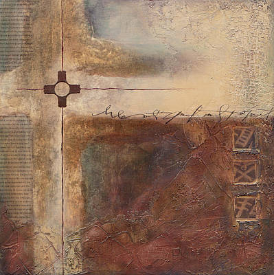 Wall Art - Mixed Media - Primitive Cross by Jane Dill
