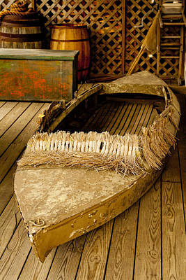 Primitive Duck Skiff Art Print