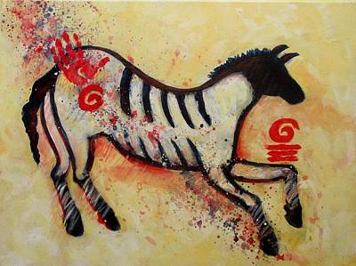 Primitive Little Horse Art Print