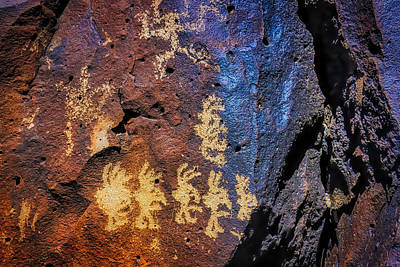 Tribal Photograph - Primitive Rock Drawings by Garry Gay