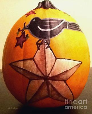 Photograph - Primitive Shaker Style Pumpkin by Kimberlee Baxter