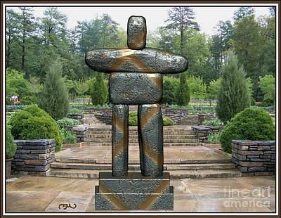 Statue Portrait Digital Art - Primitive Statue 5 by Pemaro