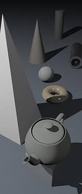 Basic Digital Art - Primitives by James Barnes
