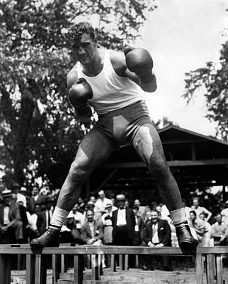 Primo Carnera At His Training Camp Art Print by Everett