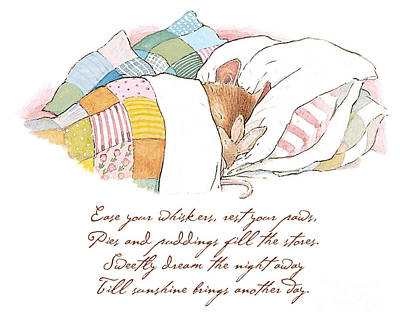 Mice Drawing - Primrose Goes To Sleep by Brambly Hedge