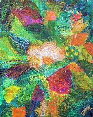 Mixed Media - Primrose by Paper Jewels By Julia Malakoff