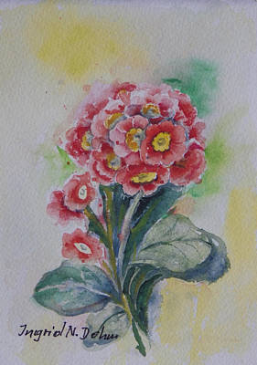 Painting - Primroses by Ingrid Dohm