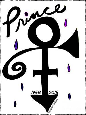 Drawing - Prince 1958-2016 by Rachel Maynard