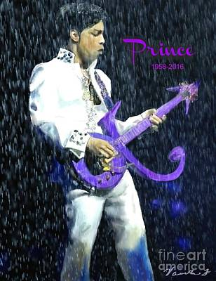 Mixed Media - Prince 1958 - 2016 by Vannetta Ferguson