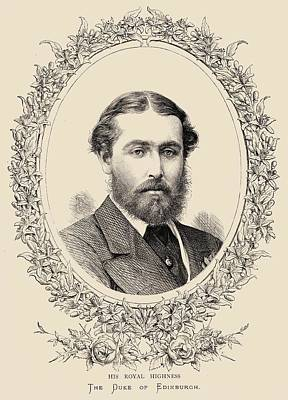 Saxe Drawing - Prince Alfred, Duke Of Edinburgh And by Vintage Design Pics