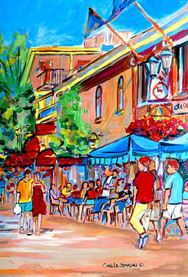 Montreal Cityscapes Painting - Prince Arthur Street Summer by Carole Spandau