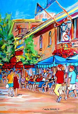 Resto Bars Painting - Prince Arthur Street Summer by Carole Spandau
