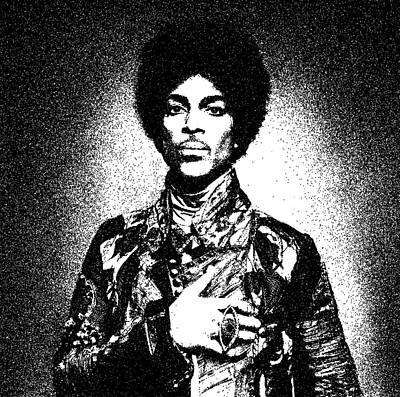 Negro Art Mixed Media - Prince Artwork by Oksana Demidova