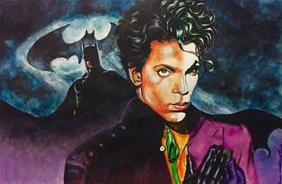 Painting -  Prince Batdance by Darryl Matthews