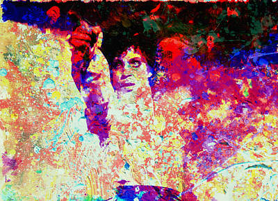 Disco Mixed Media - Prince by Brian Reaves