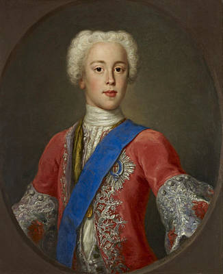 Painting - Prince Charles Edward Stuart Eldest Son Of Prince James Francis Edward Stuart by Antonio David
