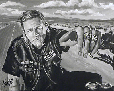 Sons Of Anarchy Painting - Prince Charming - Jax by Tom Carlton