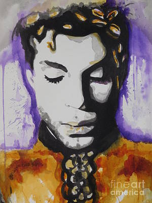Music Paintings - Prince by Chrisann Ellis