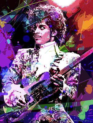 Pop Art Royalty-Free and Rights-Managed Images - Prince by David Lloyd Glover