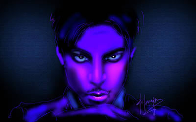 Art Print featuring the painting Prince by DC Langer