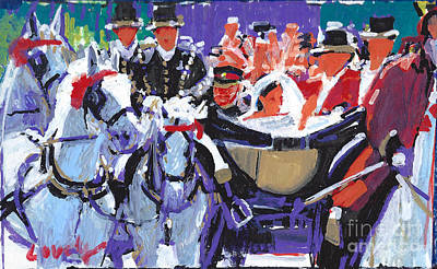 Painting - Prince Harry And Meghan Markel Royal Wedding 2018 by Candace Lovely