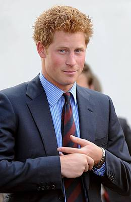 Press Conference Photograph - Prince Harry At A Public Appearance by Everett