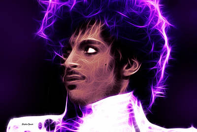 Raspberry Digital Art - Prince - His Royal Badness by Stephen Younts