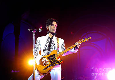 Music Mixed Media - Prince In Concert 2 by Garland Johnson