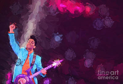 Singer Mixed Media - Prince In Concert II by Garland Johnson