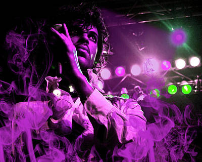 Prince In Concert Art Print by Solomon Barroa