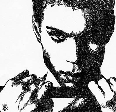 Superstar Drawing - Prince by KM Paintings