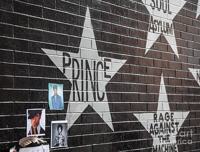 Firefighter Patents Royalty Free Images - Prince Memorial First Avenue Minneapolis 3 Royalty-Free Image by Wayne Moran