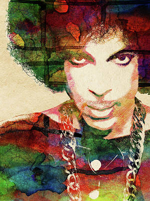 Multi Colored Digital Art - Prince by Mihaela Pater
