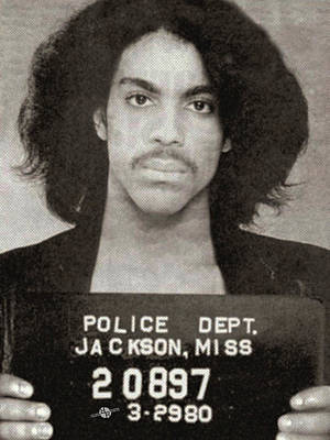 Prince Mug Shot Vertical Original by Tony Rubino
