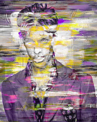 Photograph - Prince Musician Digital Painting 4 by David Haskett