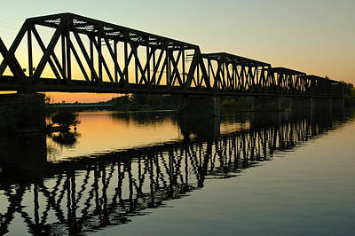 Rights Managed Images Photograph - Prince Of Wales Bridge At Sunset. by Rob Huntley